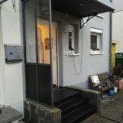 Vordach Haustuerueberdachung Windschutz Rs Reich 23
