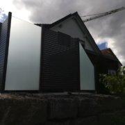 Aluminium Rhombus Anthrazit Milchglasdesign 03